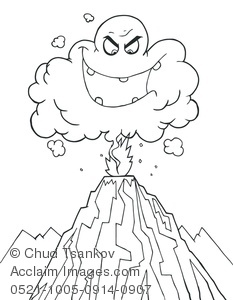 Volcano Eruption Drawing