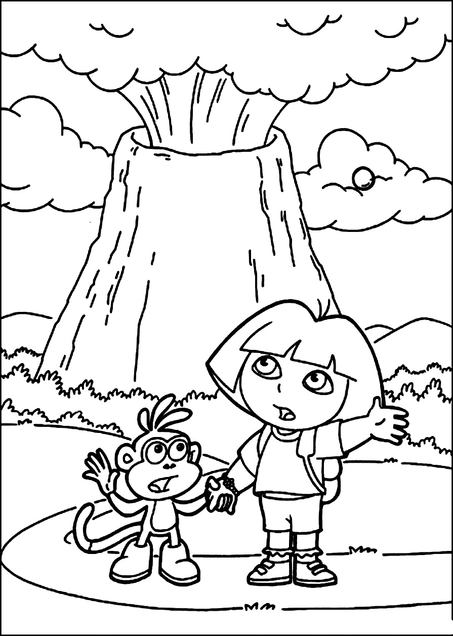 895x1256 Printable Volcano Coloring Pages Me