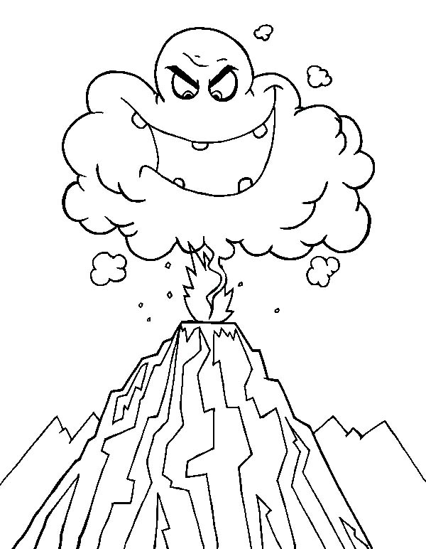 Volcano Eruption Drawing at GetDrawings Free for