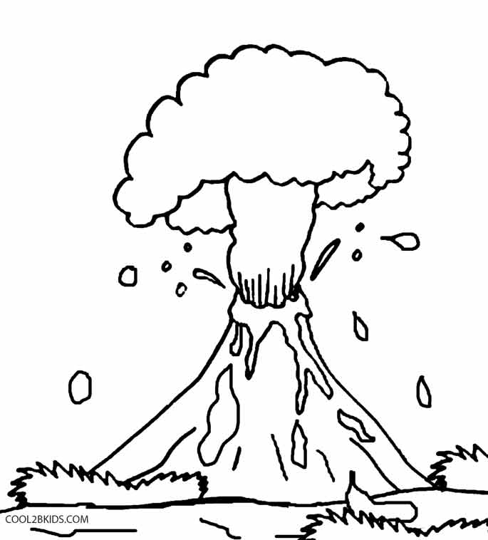 Line Drawing Volcano : Volcano eruption drawing at getdrawings free for