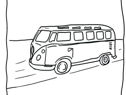volkswagen bus drawing at getdrawings com
