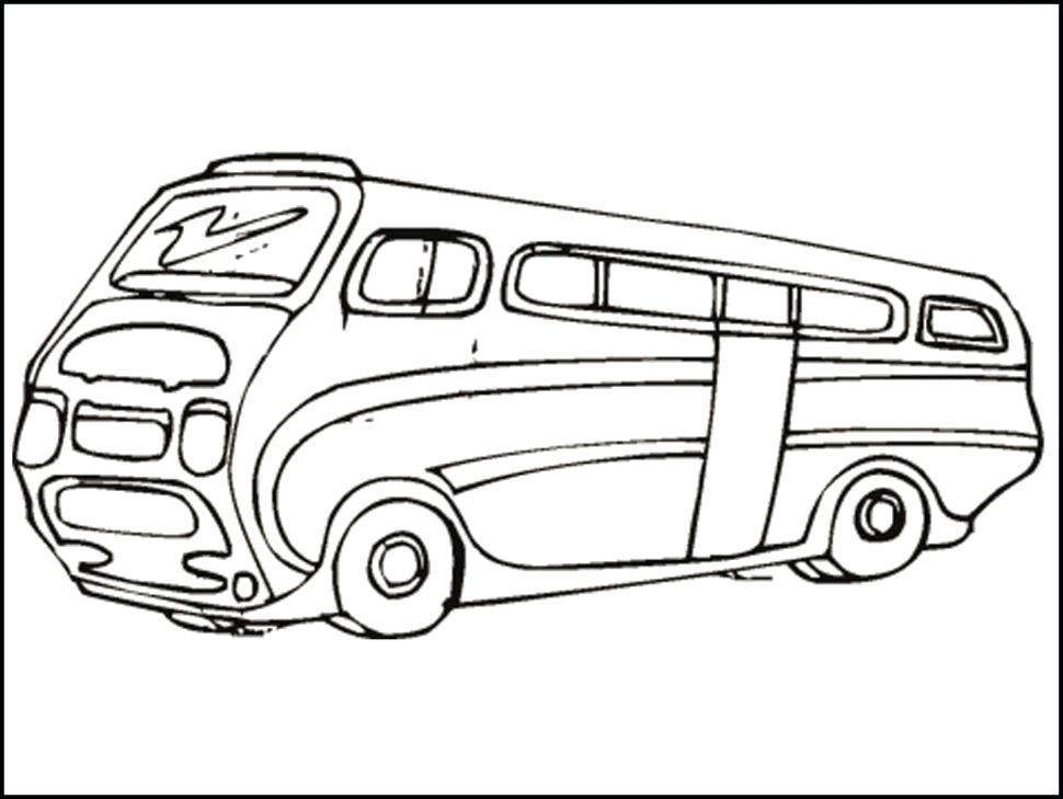 970x729 Vw Bus Coloring Page Pages