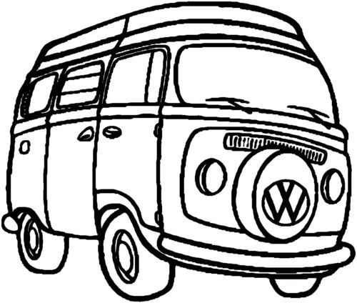 Volkswagen Bus Drawing on volkswagen street rod