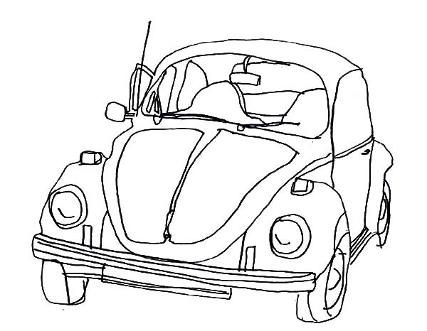 600x466 1970 VW Beetle Car Coloring Pages Best Place To Color