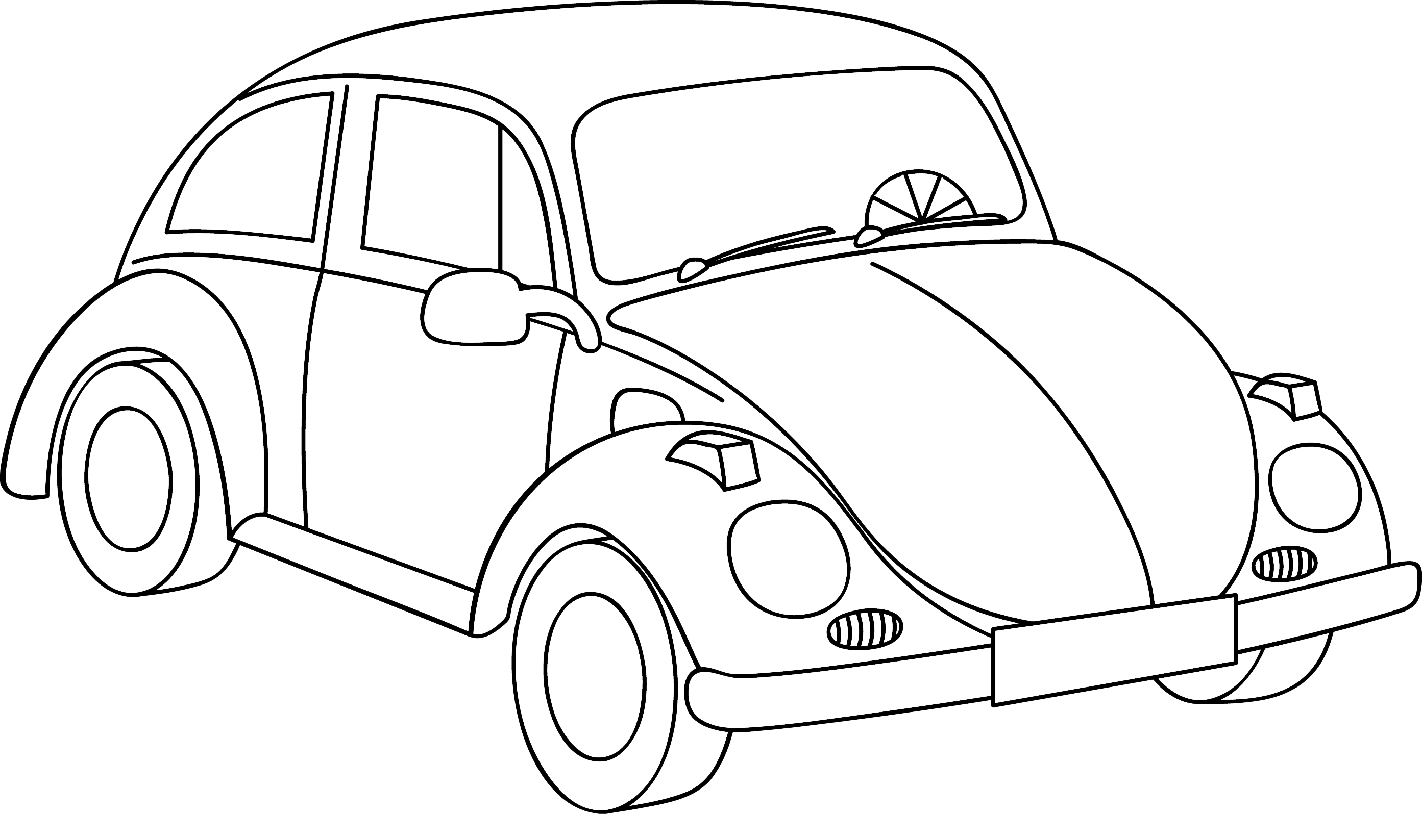 Volkswagen Drawing At Free For Personal Use Clic Bug 2786x1596 Cars Lt Colouring Pages Edding Funtastics