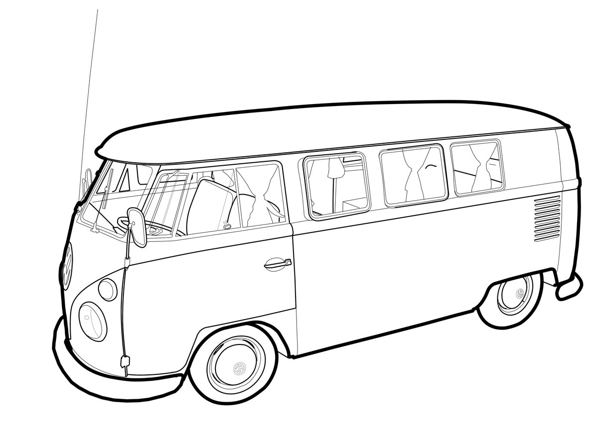 Auto Ausmalbilder Vw : Volkswagen Drawing At Getdrawings Com Free For Personal Use