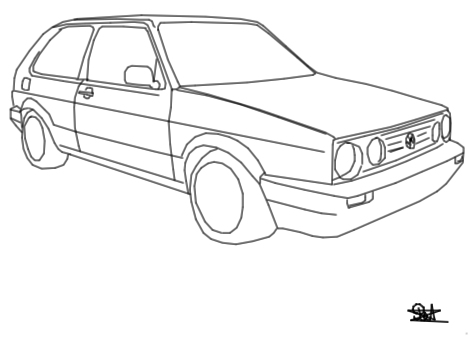 volkswagen drawing at getdrawingscom free for personal