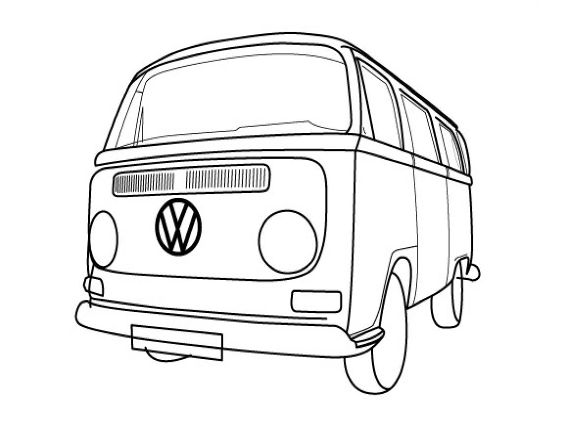Volkswagen Van Drawing