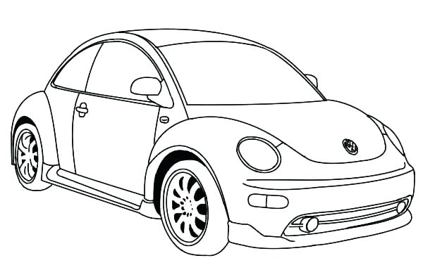 600x394 Vw Bug Coloring Page Free Printable Vw Bug Coloring Pages