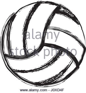 300x322 Sketch Of A Volleyball Ball Stock Vector Art Amp Illustration