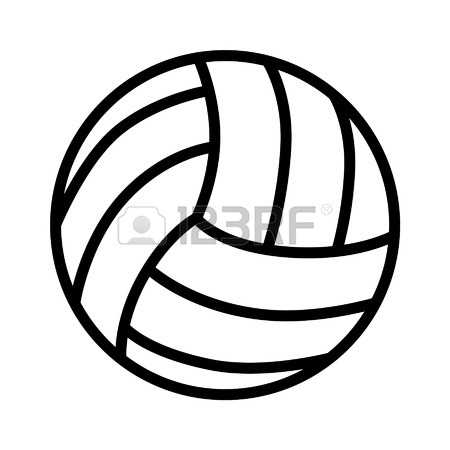 450x450 Volleyball Ball Line Art Icon For Sports Apps And Websites Royalty