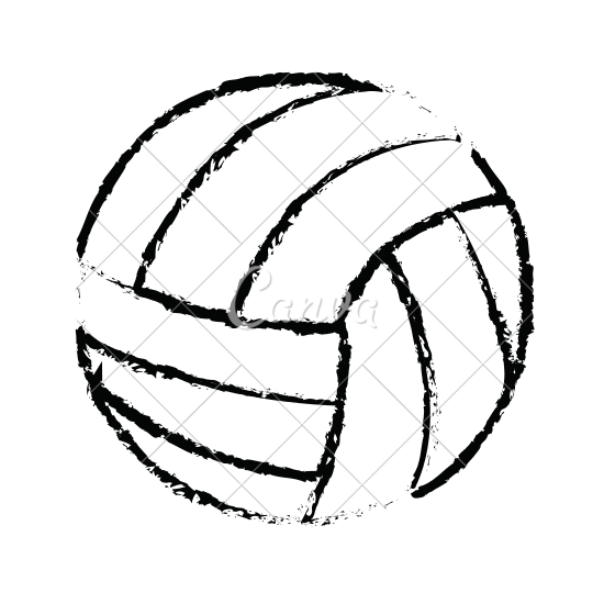 550x550 Volleyball Ball Sketch