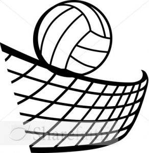 292x300 Volleyball Net And Ball Clipart