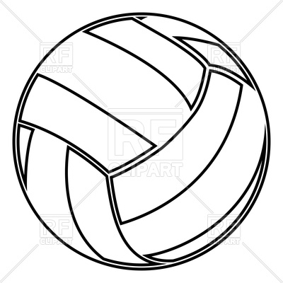 400x400 Volleyball Ball Outline Royalty Free Vector Clip Art Image