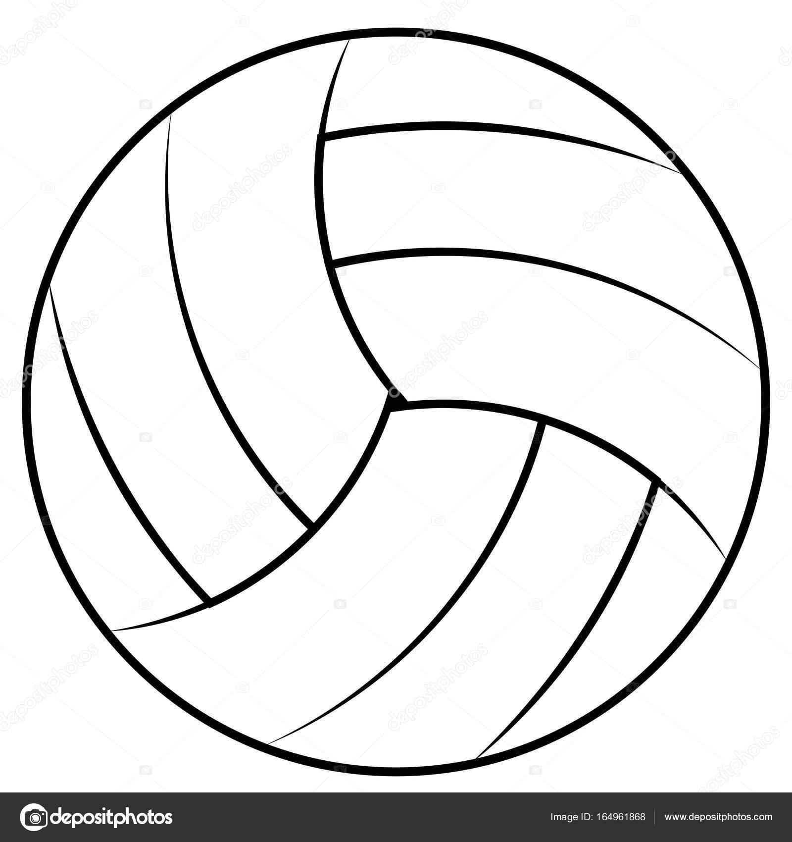1600x1700 Ball For Playing Beach Volleyball, Vector Volleyball Ball Contours