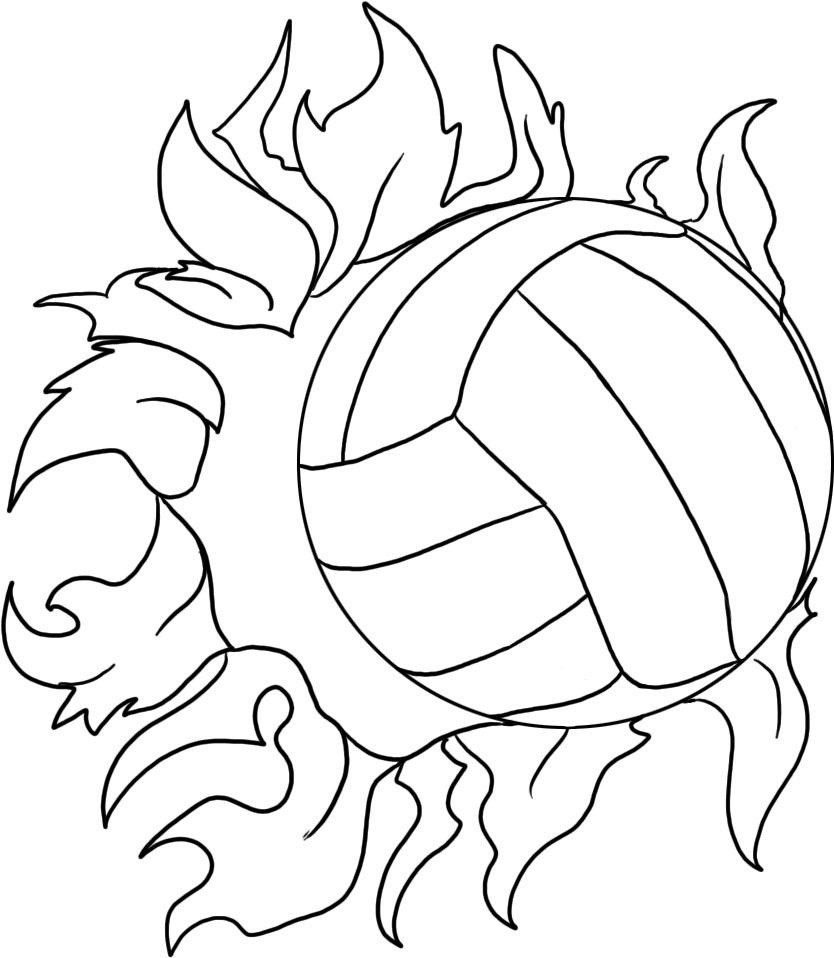 834x958 Volleyball Court Coloring Pages Copy Picture A Volleyball 5802