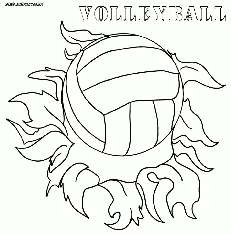 945x955 Volleyball Court Coloring Pages New Volleyball Court Coloring Page