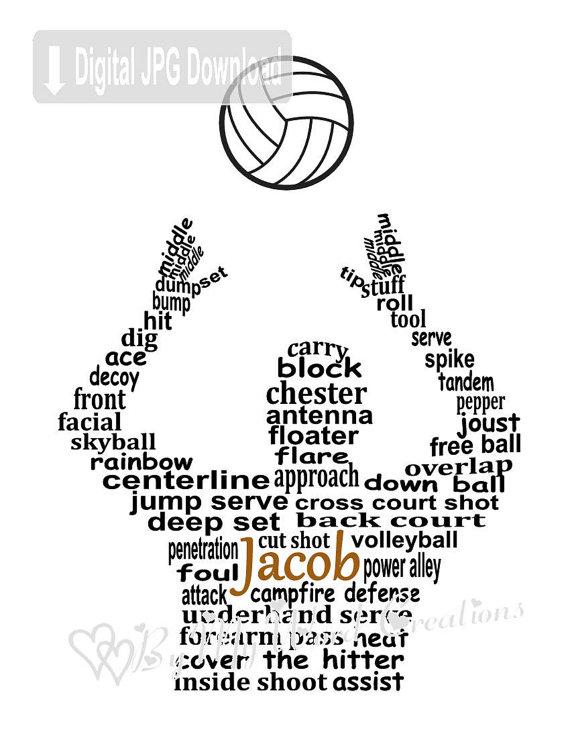 570x738 Volleyball Player Art, Boy Volleyball Player Word Art, Volleyball