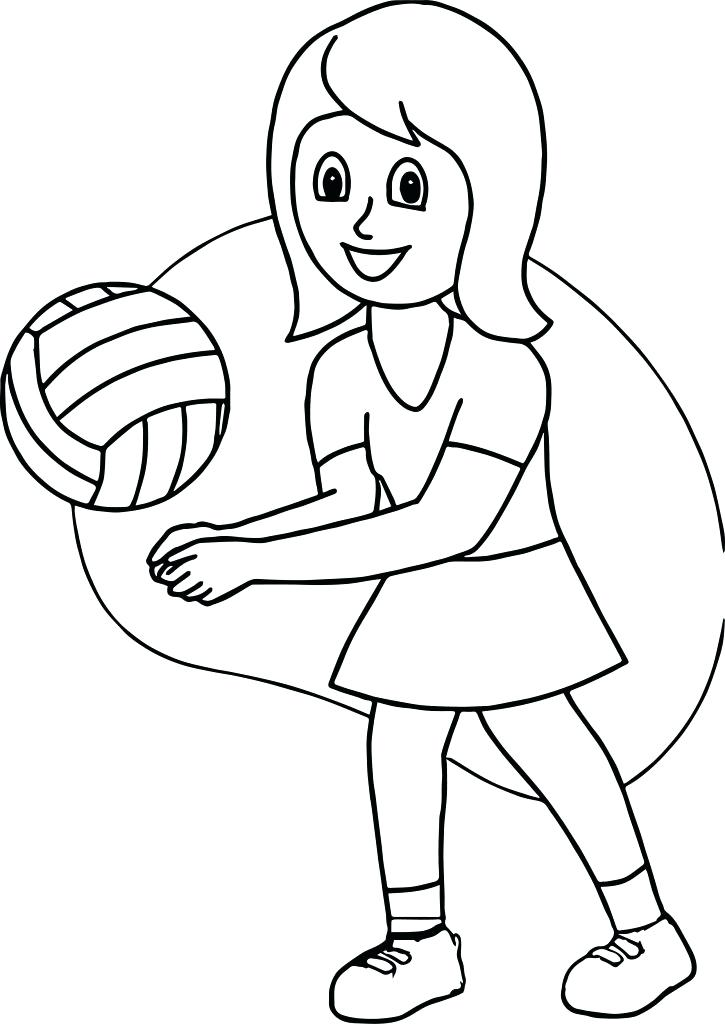 725x1024 Best Of Volleyball Coloring Pages Pictures Volleyball Court