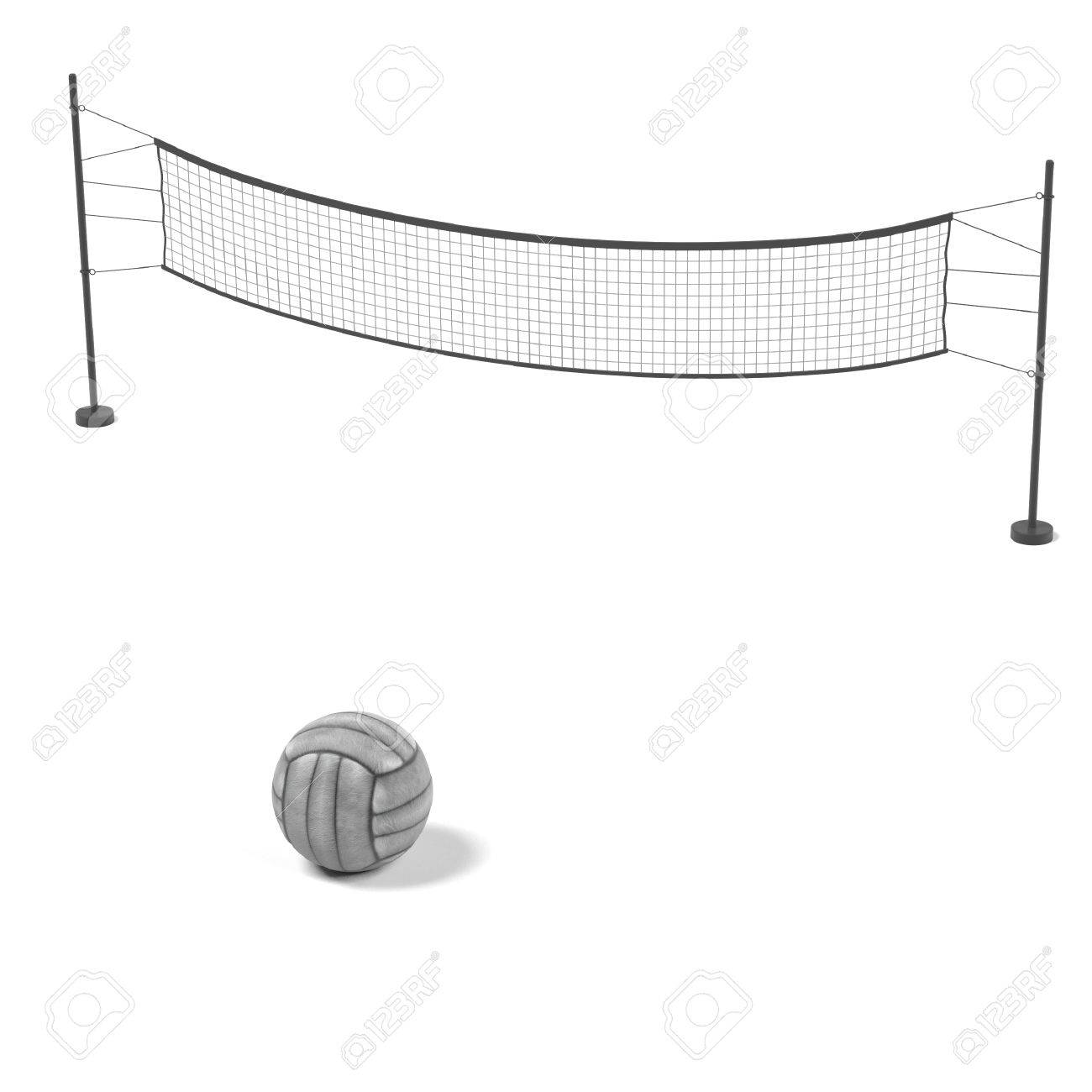 Volleyball Net Drawing