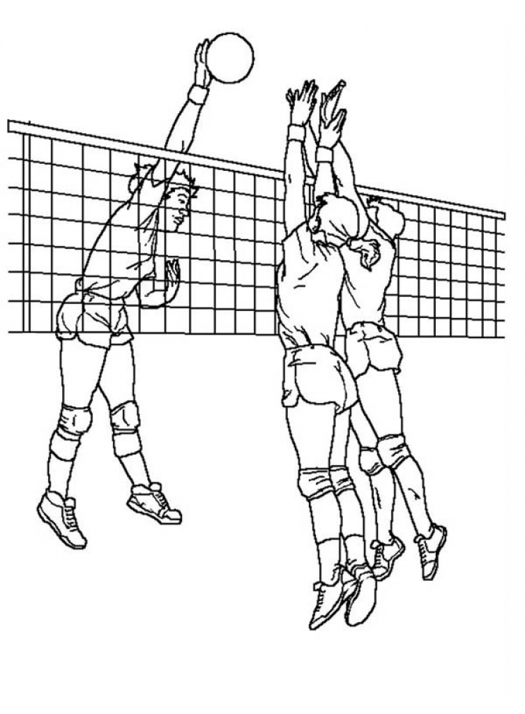 volleyball net coloring pages - photo#6