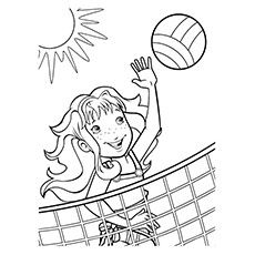 volleyball net coloring pages - photo#13