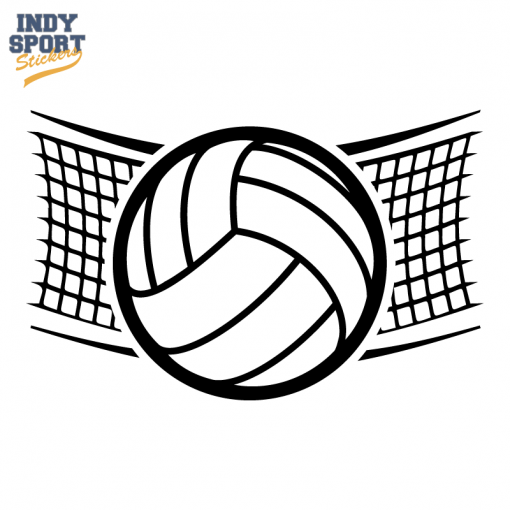 510x510 Volleyball Net With Volleyball Silhouette