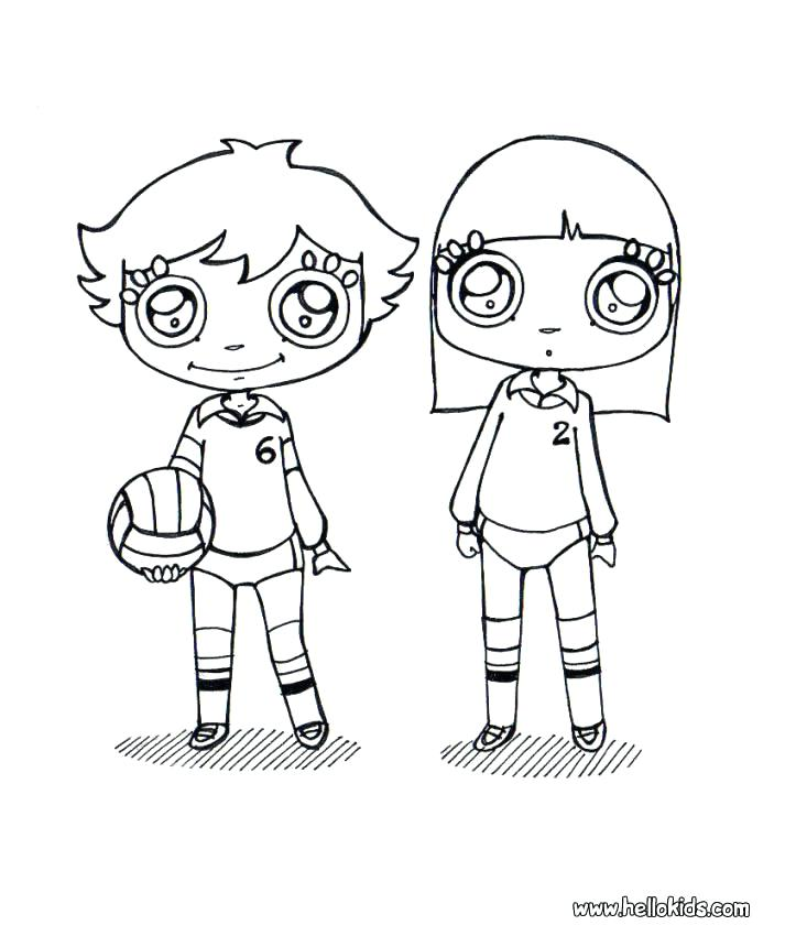 723x850 Best Of Volleyball Coloring Pages Pictures Volleyball Coloring