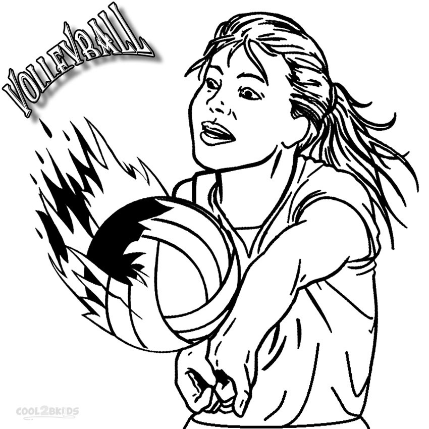 850x850 Printable Volleyball Coloring Pages For Kids Cool2bkids