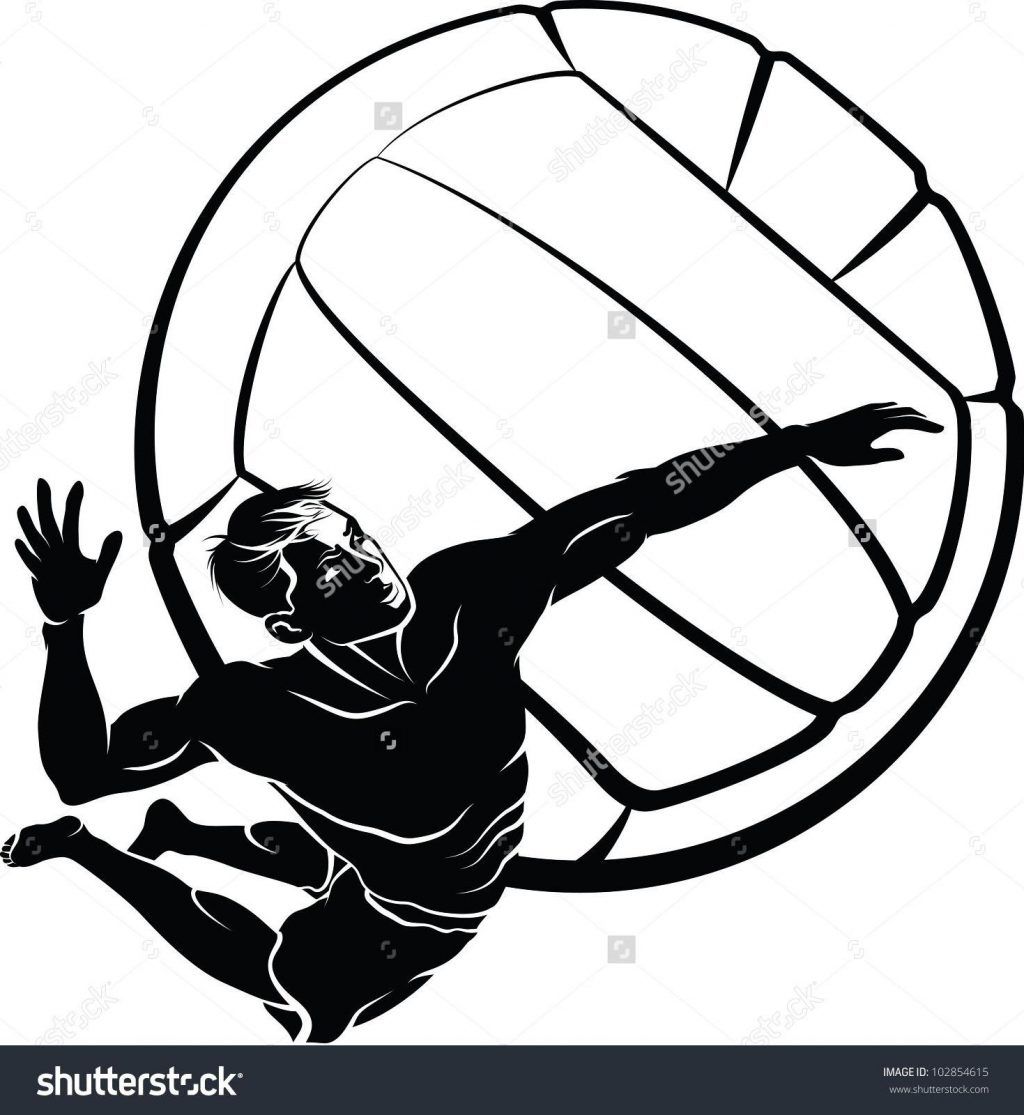 1024x1115 Unique Best Stock Vector Beach Volleyball Spike Pictures