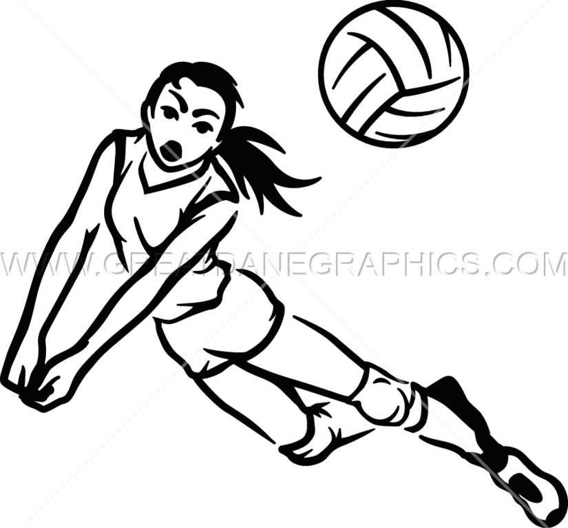825x766 Volleyball Hit Production Ready Artwork For T Shirt Printing