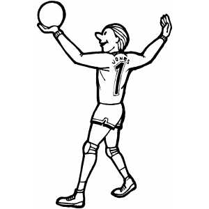300x300 Volleyball Player Coloring Page