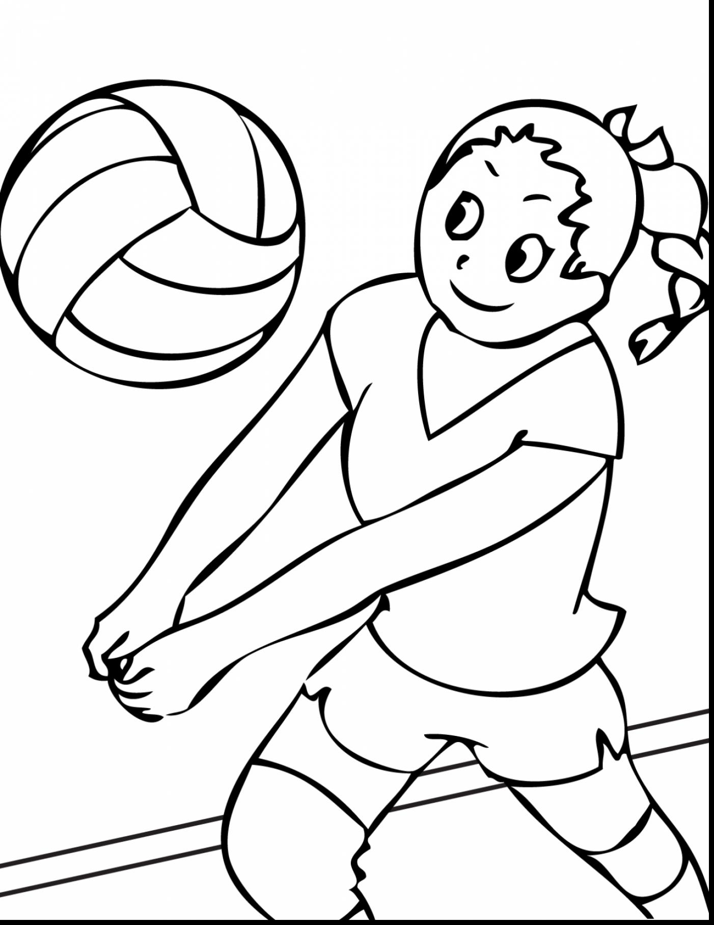 1402x1815 Surprising Volleyball Sports Coloring Pages With Volleyball