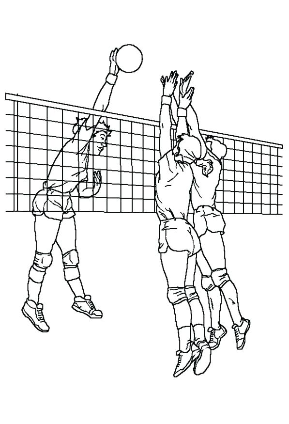 597x875 Coloring Pages Volleyball Volleyball Outline Coloring Pages Sports