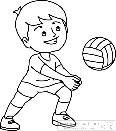 487x550 Volleyball Clip Art Black And White