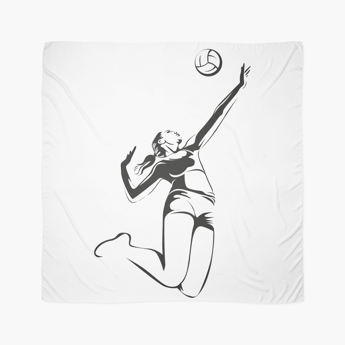 1313x1313 Beach Volleyball Scarves By Jatmika Jati Redbubble