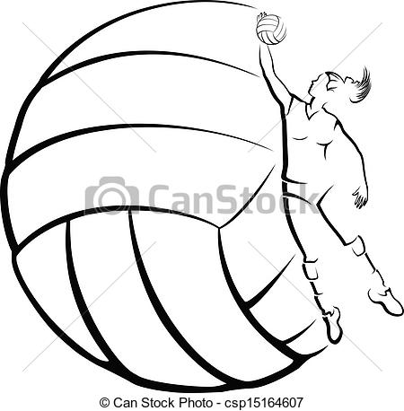 450x458 Volleyball Player Clipart Clipart Panda