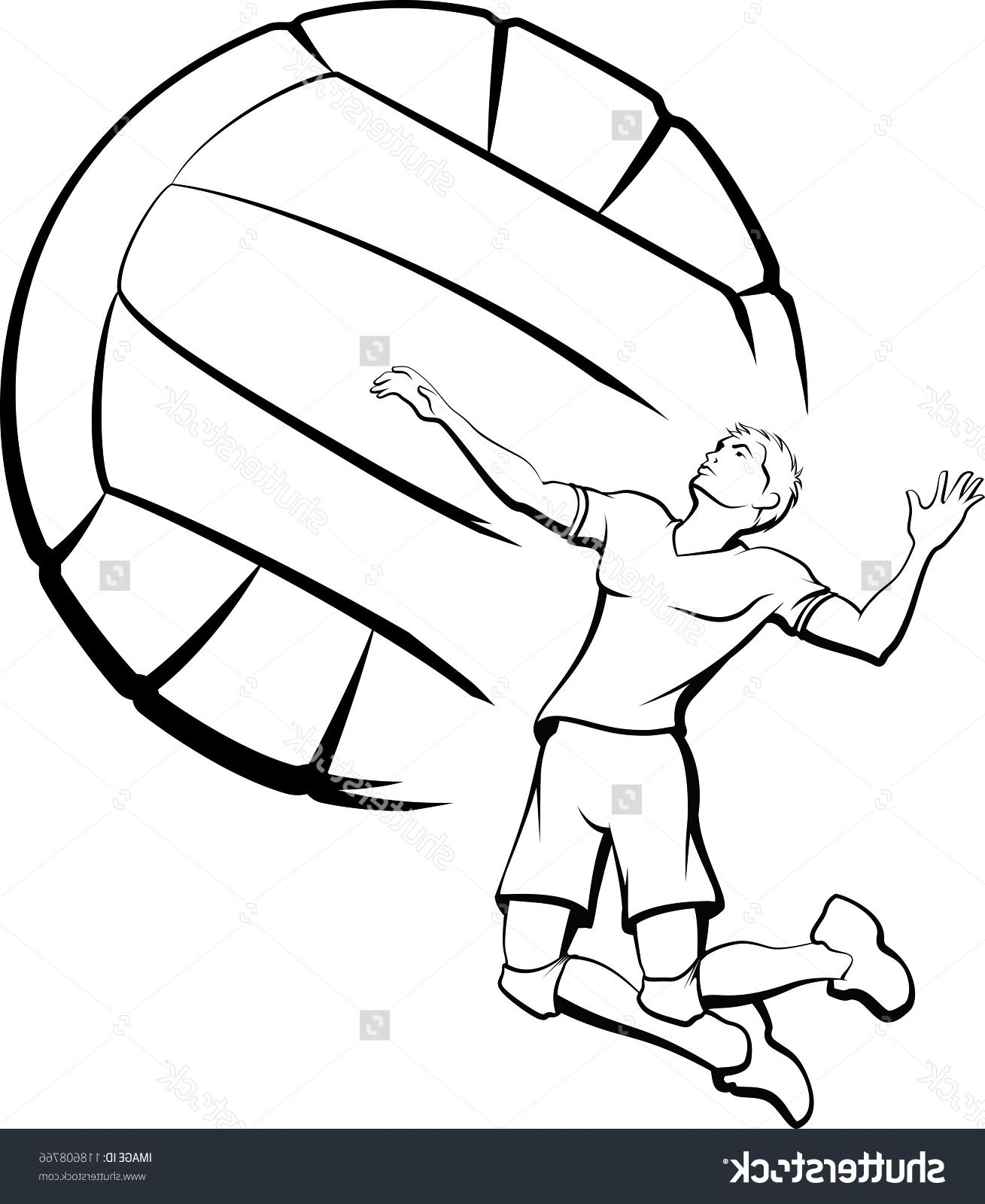 1309x1600 Best 15 Stock Vector Volleyball Player Spiking Image