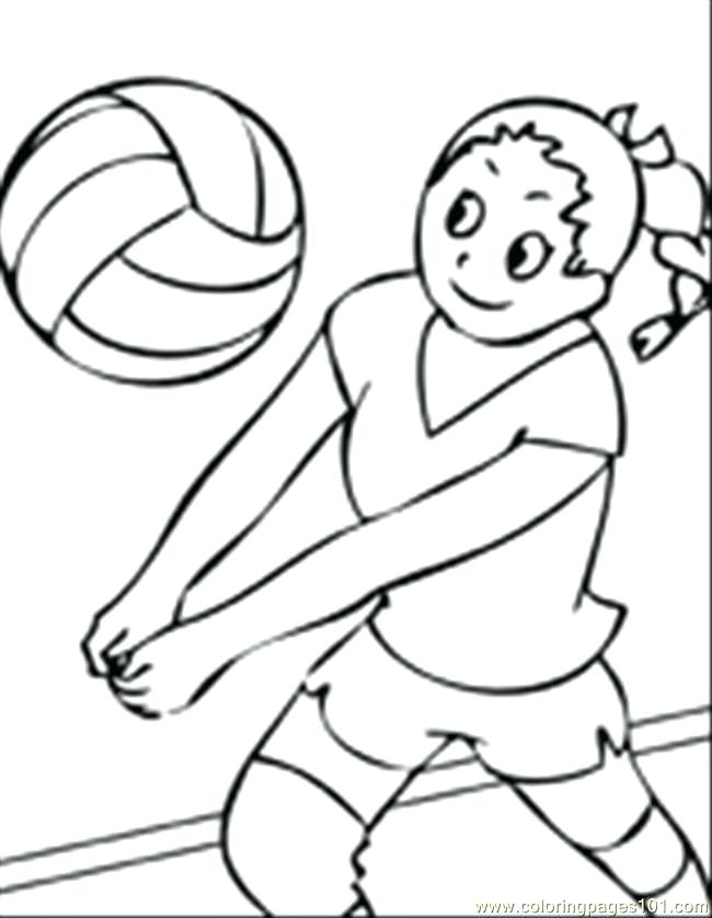 650x838 Coloring Pages Volleyball Volleyball Coloring Pages Printable