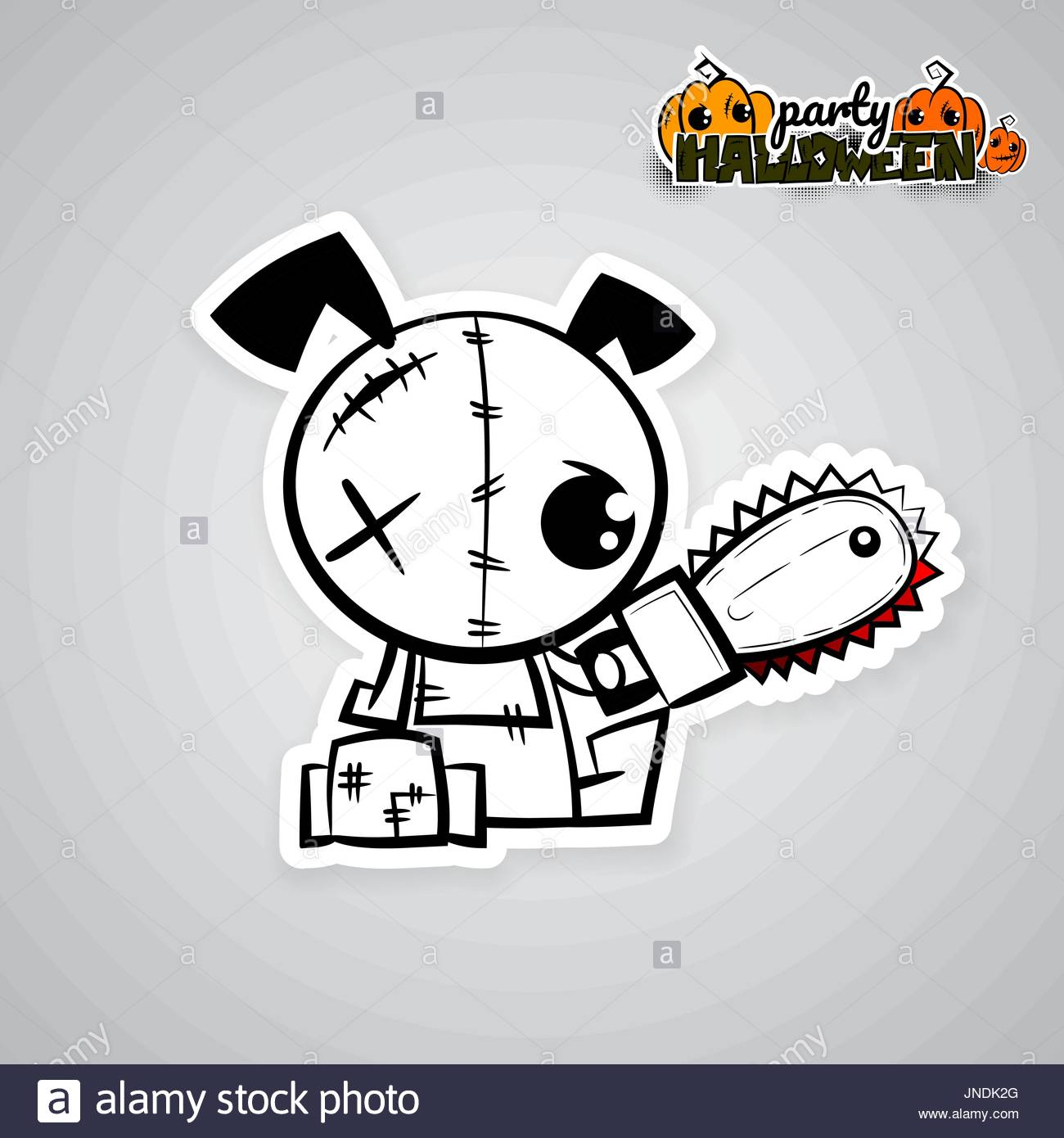 1300x1390 Helloween Evil Dog Voodoo Doll Pop Art Comic Stock Vector Art