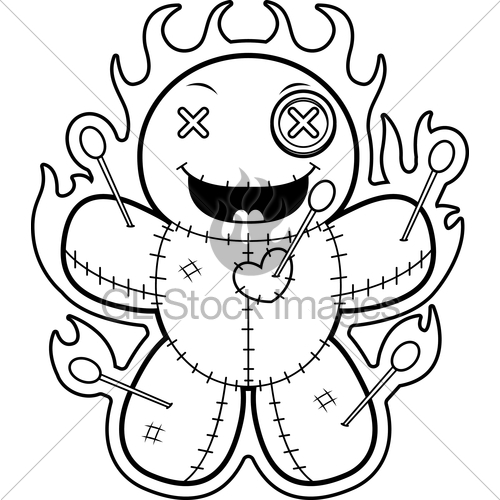 500x500 Cartoon Voodoo Doll Magic Gl Stock Images