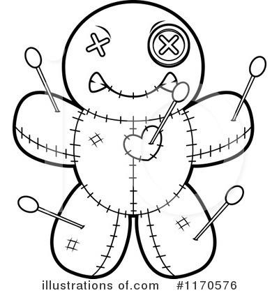 400x420 Voodoo Doll Clipart