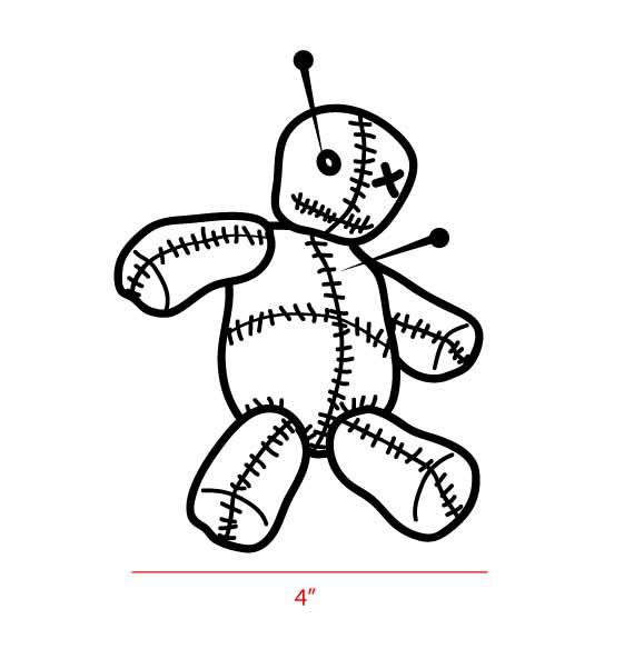 570x584 Voodoo Doll Decal Decals Only