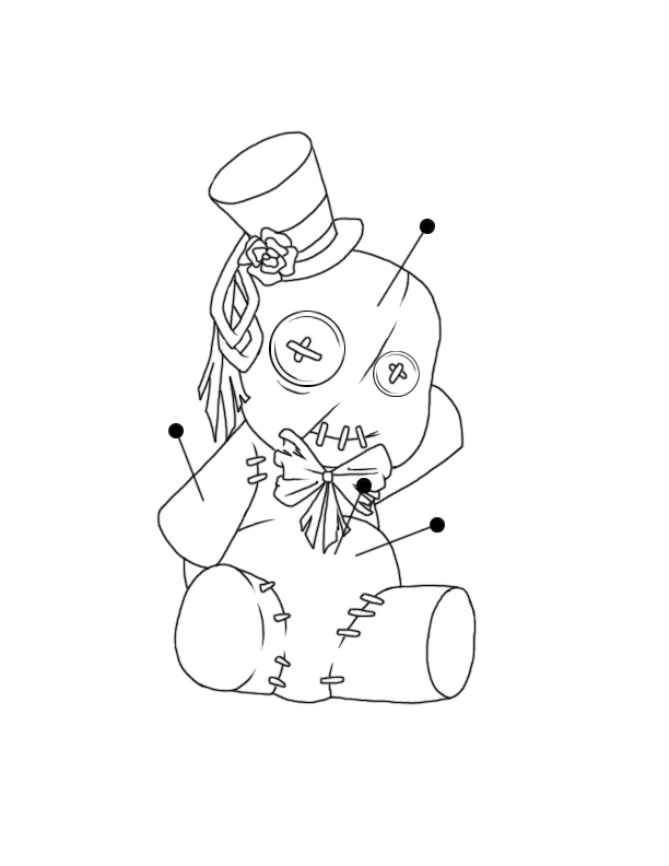 612x792 Voodoo Doll Tattoo Design By Happyzuko
