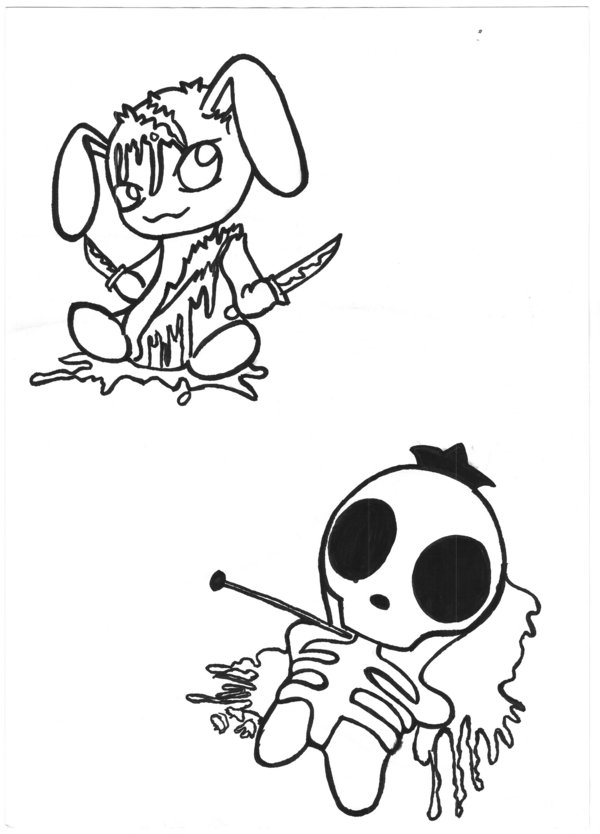 600x834 Bloody Bunny N Voodoo Doll By Variouslove
