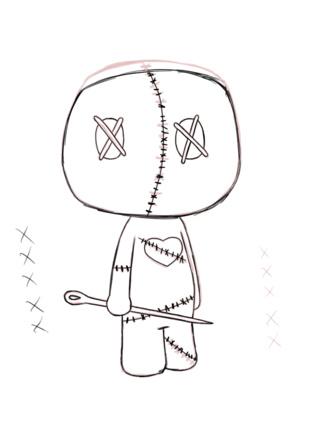 320x427 Voodoodoll Drawings On Paigeeworld. Pictures Of Voodoodoll