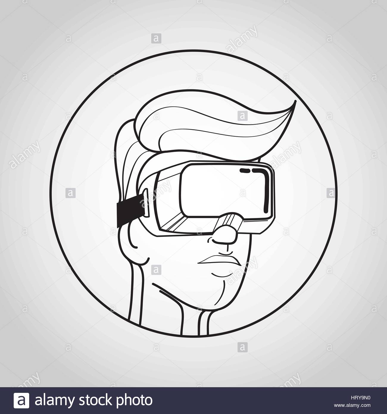 1300x1390 Vr Glasses For Smartphone Vector Illustration. Virtual Reality