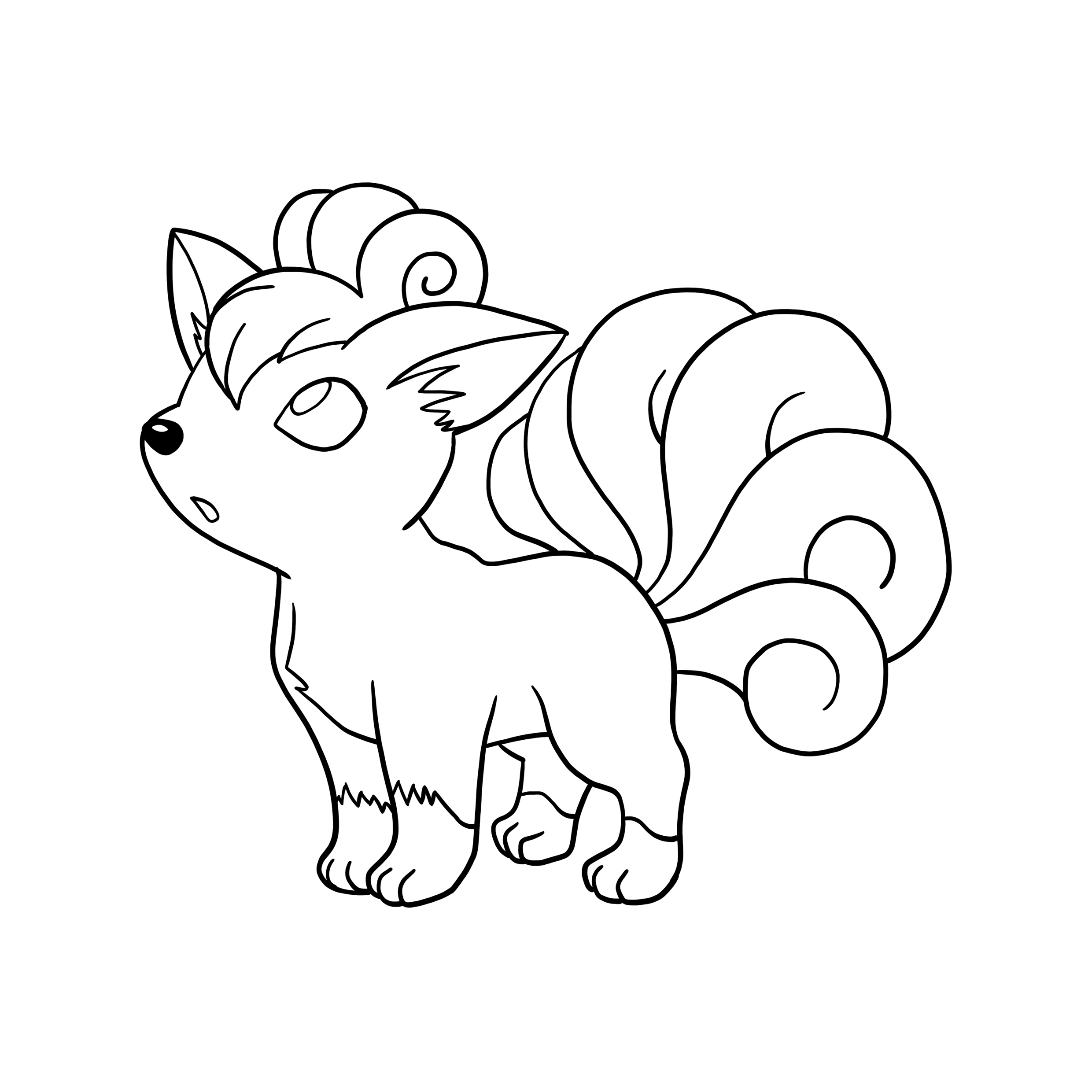 Vulpix Drawing at GetDrawingscom Free for personal use Vulpix