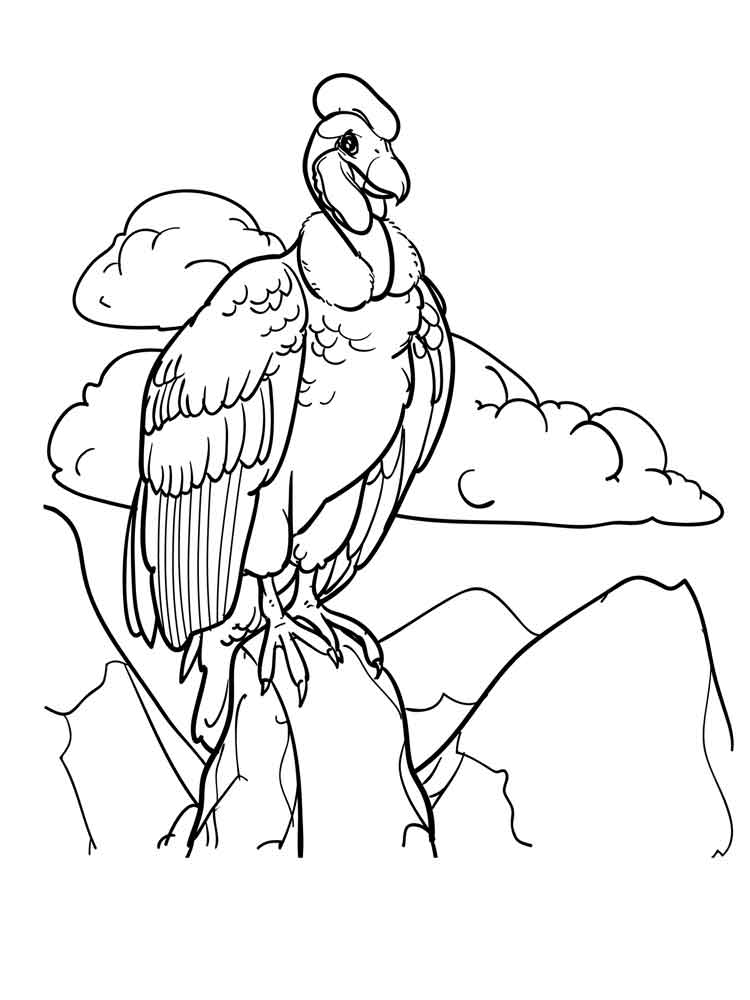 750x1000 Vulture Coloring Pages. Download And Print Vulture Coloring Pages