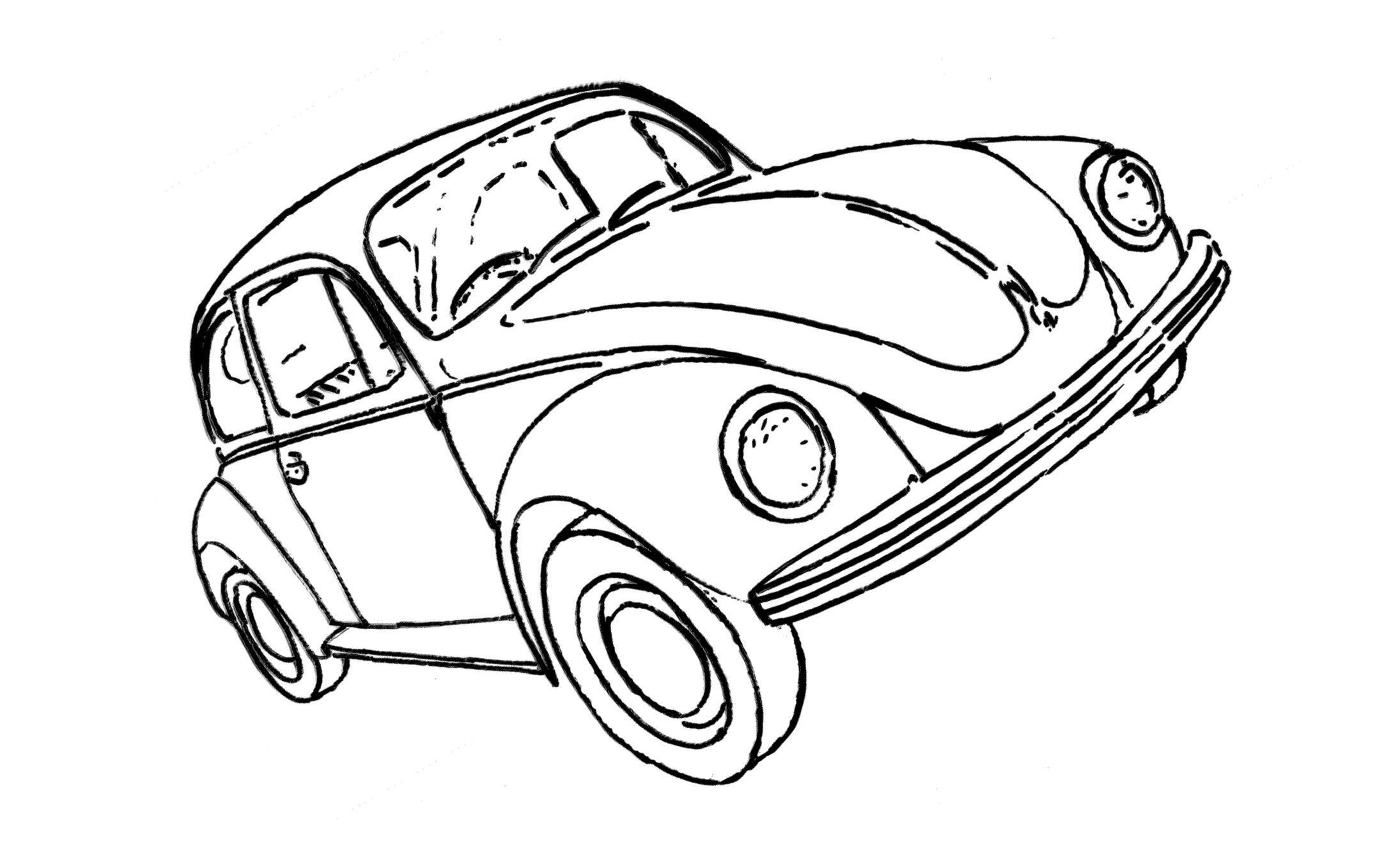 Vw Beetle Drawing At Free For Personal Use Clic Volkswagen Bug 2190x1345
